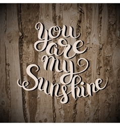 You are my sunshine hand lettering inscription vector