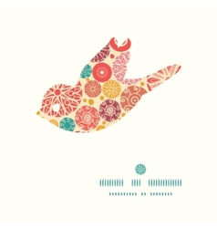 abstract decorative circles bird silhouette vector image vector image