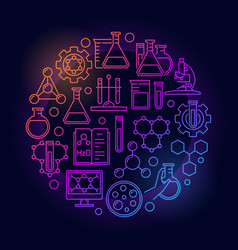 education and chemistry colorful symbol vector image