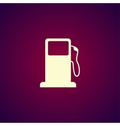 Gasoline pump nozzle sign Gas station icon vector image vector image