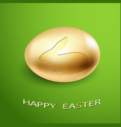 golden rabbit egg vector image vector image