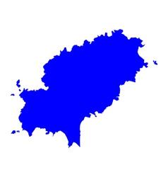 Map of Ibiza vector image