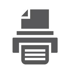 Print icon1 vector image vector image