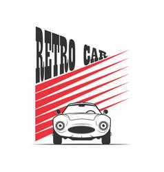 retro car in vintage style vector image