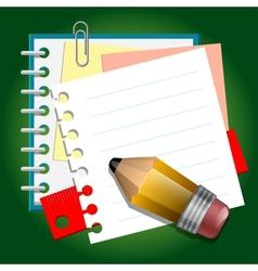 School paper notes vector image