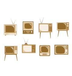 Set of retro TV vector image