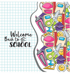 welcome back to school doodle clip art vector image