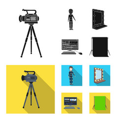 a movie camera a suit for special effects and vector image