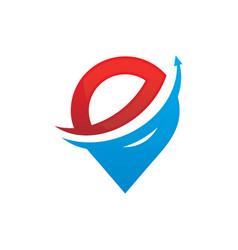 Abstract pin arrow business logo vector