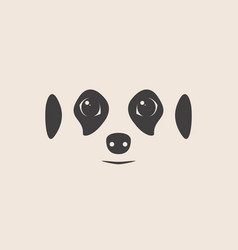 Meerkat face meerkat mascot idea for logo vector