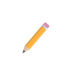 pencil flat icon education and school element vector image