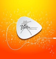 Pick guitar music design on orange background vector image