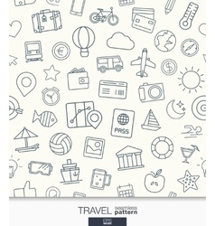 Travel wallpaper Black and white trip seamless vector image vector image
