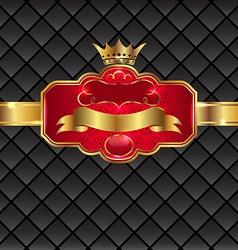 Vintage golden emblem with royal crown vector image