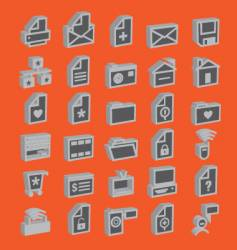 web icons 3d vector image vector image
