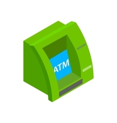 Atm bank cash machine icon isometric 3d style vector