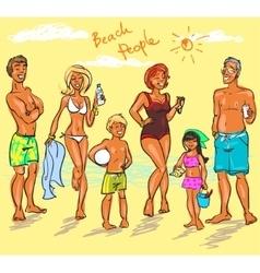Beach People vector image vector image