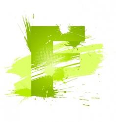 font letter f vector image vector image