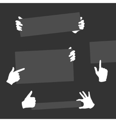 Hands Holding Template Banner vector image