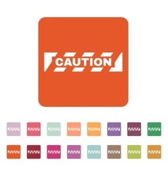The caution icon Danger and hazard attention vector image