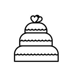 wedding cake line icon sign vector image vector image