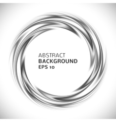 Abstract black and white swirl circle background vector image vector image