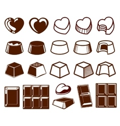 Chocolate vecotor icons vector image vector image