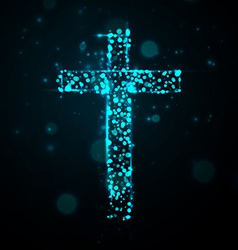 cross of light vector image