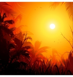 jungle background vector image vector image
