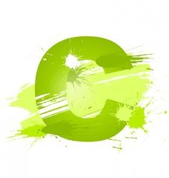 paint splashes font letter c vector image vector image