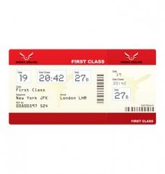 Plane tickets first class vector