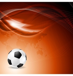 Soccer bright background with abstract waves vector image vector image