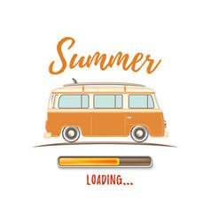 summer loading vintage retro camper van vector image