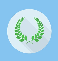 Wreath Flat Long Shadow Icon vector image