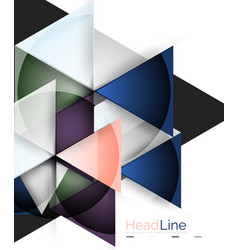 3d geometric abstract background vector