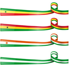 africa flag set vector image