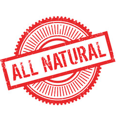 All natural stamp vector