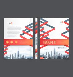 Annual Report Brochure Flyer Design vector