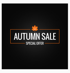 autumn sale label design background vector image