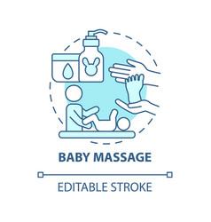 Baby massage blue concept icon vector