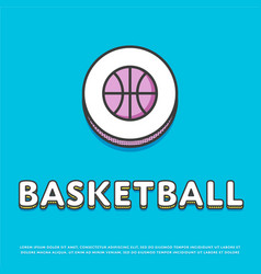 Basketball sport colour icon with ball vector