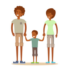 beautiful african american family vector image