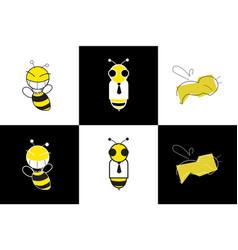 Bee symbols vector