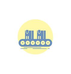 belt box conveyor factory line glyph icon vector image