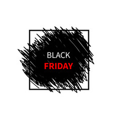 black friday sale design template banner vector image