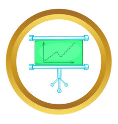 Board with statistics icon vector