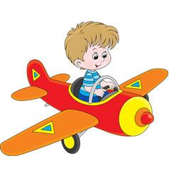 Boy pilot vector image