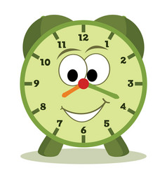 Cartoon clock vector