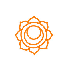 Chakra svadhisthana doodle icon color vector