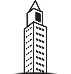 city building icon image vector image